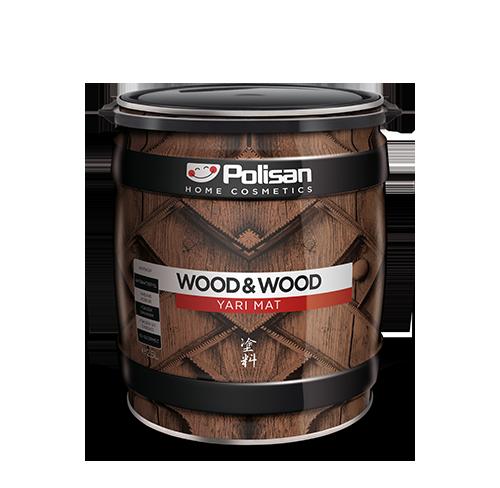Wood&Wood Anti Aging Ahşap Verniği Yarımat Solvent Bazlı