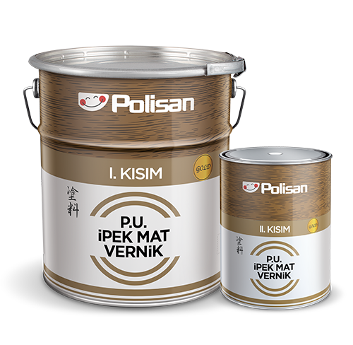 Polyurethane Silk Matt Varnish Gold
